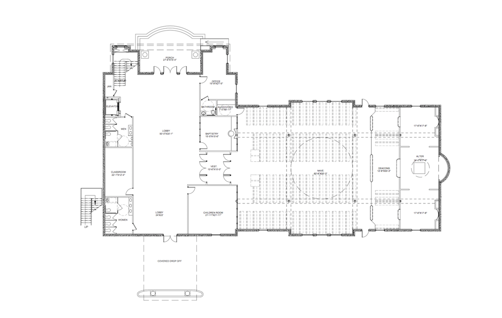 New church for Traditional church floor plans